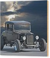 1930 Ford Hiboy Coupe Wood Print