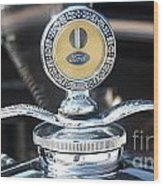 1930 Ford Model A - Hood Ornament - 7488 Wood Print