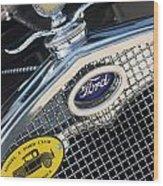 1930 Ford Model A - Radiator N Grill - 7479 Wood Print
