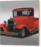 1930 Ford Model A Pick Up Wood Print