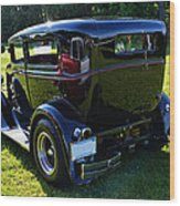 1930 Ford Model A Sedan Wood Print