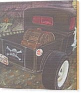 1930 Ford Pick Up Truck/reaper Wood Print