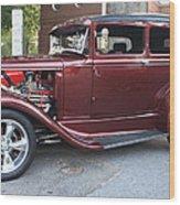1930 Ford Two Door Sedan Side View Wood Print