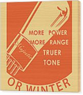 1930 Radio Tubes Ad Wood Print by Igor Kislev