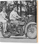 1930s Motorcycle Touring Wood Print