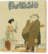 1931 - Fantasio French Magazine Cover - September - Color Wood Print