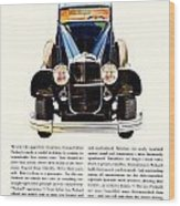 1931 - Packard Automobile Advertisement - Color Wood Print