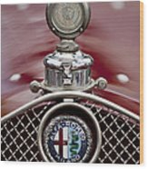 1931 Alfa-romeo Hood Ornament Wood Print