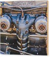 1931 Bentley 4.5 Liter Supercharged Le Mans Engine Emblem Wood Print