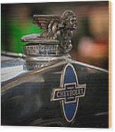 1931 Chevrolet Emblem Wood Print