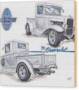1931 Chevrolet Truck Hot Rod Wood Print