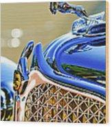 1931 Chrysler Cg Imperial Dual Cowl Phaeton Hood Ornament - Grille Wood Print