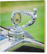 1931 Ford Model A Deluxe Fordor Hood Ornament Wood Print