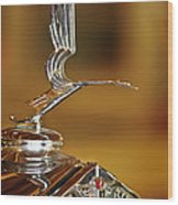 1931 Lasalle Hood Ornament Wood Print by Jill Reger