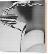 1931 Lincoln K Hood Ornament -1837bw Wood Print