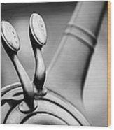 1931 Lincoln K Steering Wheel - Spark - Gas Controls -1865bw Wood Print