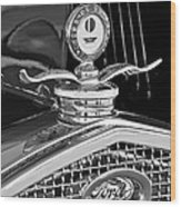 1931 Model A Ford Deluxe Roadster Hood Ornament 2 Wood Print
