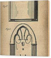1931 Philco Radio Patent Wood Print