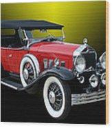 1931 Willys Knight Plaid Side Wood Print