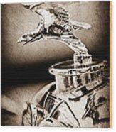 1932 Alvis Hood Ornament - Emblem Wood Print