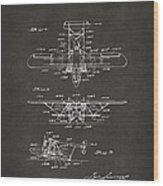 1932 Amphibian Aircraft Patent Gray Wood Print