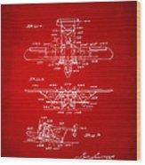 1932 Amphibian Aircraft Patent Red Wood Print