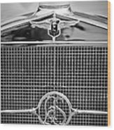1932 Cadillac Lasalle Grille Emblem Wood Print