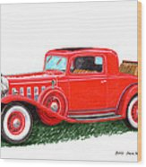 1932 Cadillac Rumbleseat Coupe Wood Print