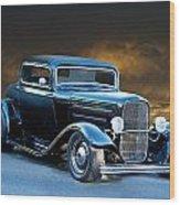 1932 Deuce Coupe Wood Print