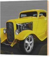 1932 Ford 3 Window Coupe Wood Print