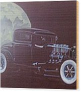 1932 Ford Coupe-harvest Moon Coupe Wood Print