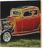 1932 Ford Fenderless Coupe Wood Print
