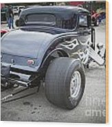 1932 Ford Highboy Back View Classic Car Automobile In Color  310 Wood Print