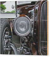 1932 Ford Roadster Head Lamp View Wood Print