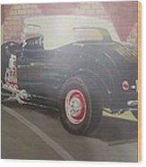 1932 Ford Roaster At Deuce's Saloon Wood Print