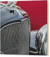 1932 Ford V8 Grille - Hood Ornament Wood Print