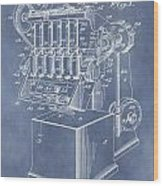 1932 Machine Patent Wood Print