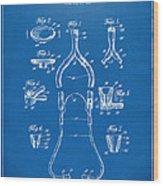 1932 Medical Stethoscope Patent Artwork - Blueprint Wood Print