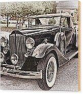 1932 Packard 903 Victoria Wood Print