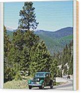 1932 Packard Eight Sedan Cresting Bob Cat Pass Wood Print