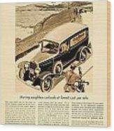 1933 - Chevrolet Commercial Automobile Advertisement - Old Gold Cigarettes - Color Wood Print