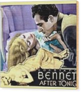1933 - After Tonight Motion Picture Poster - Constance Bennet - Gilbert Roland - Color Wood Print