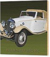 1933 Bentley 3  5  Liter Drop Head Coupe Wood Print