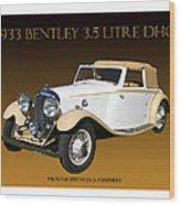 Bentley Derby D H C  Wood Print