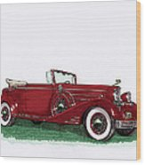 1933 Cadillac Convert Victoria Wood Print by Jack Pumphrey