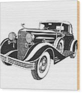 Cadillac Victoria V 16 Convertible Wood Print
