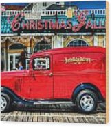1933 Chevy Delivery Truck Red Wood Print
