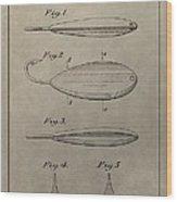 1933 Fish Lure Patent Wood Print