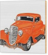 1933 Ford Three Window Coupe Wood Print