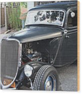 1933 Ford Two Door Sedan Front And Side View Wood Print
